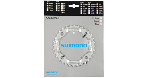 Shimano Alivio FC-M430 eturattaat , hopea